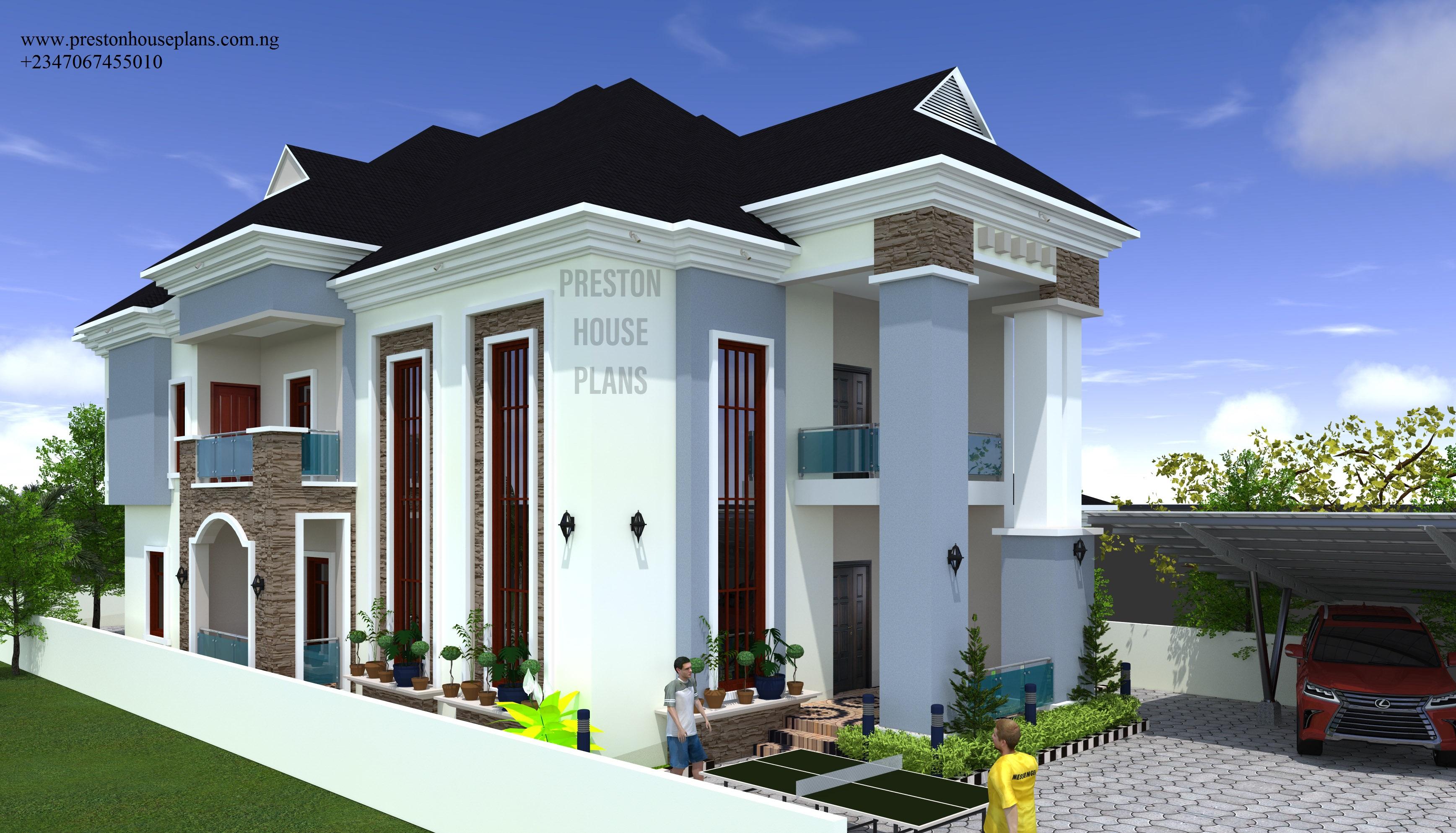 Five bedroom duplex plan