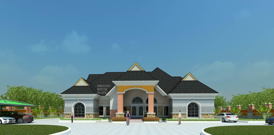 Four bedroom luxurious bungalow front view