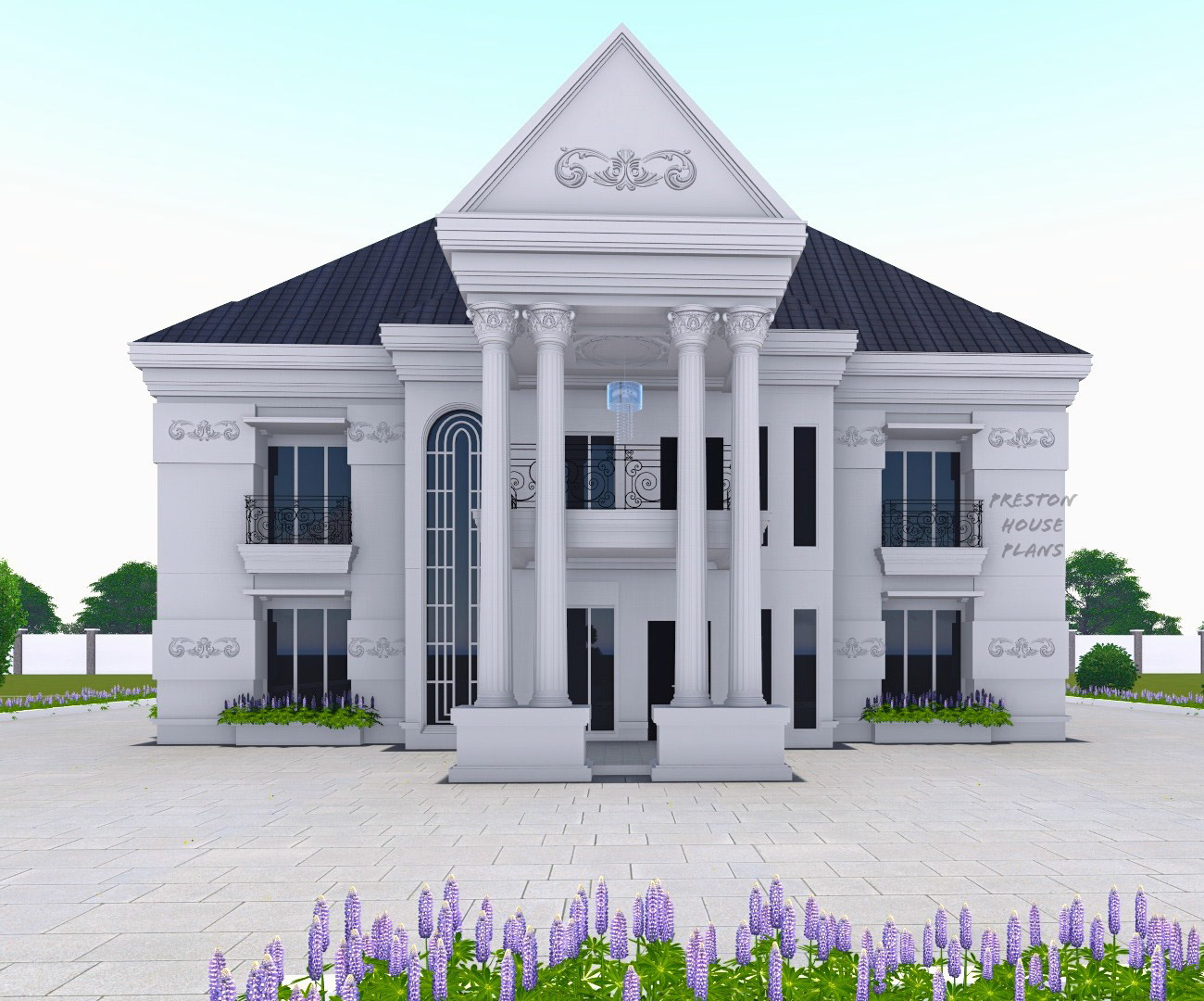 Six bedroom mansion front view