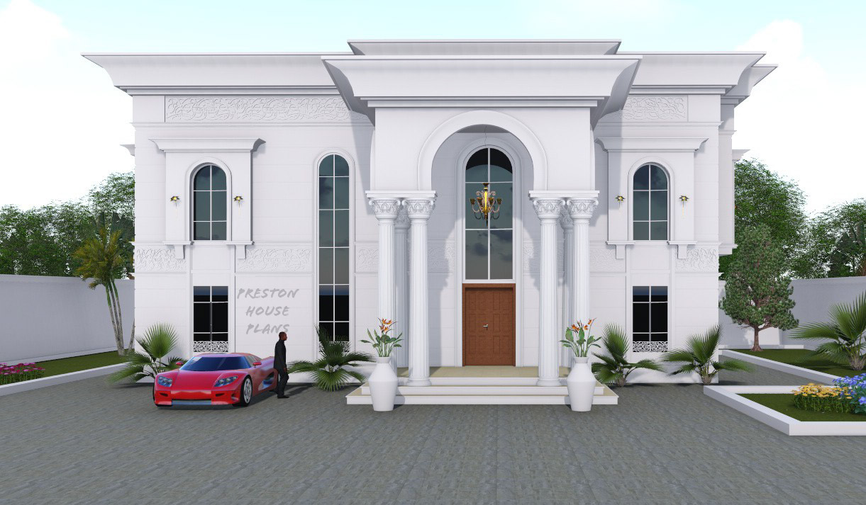 Four bedroom Arabic duplex front view