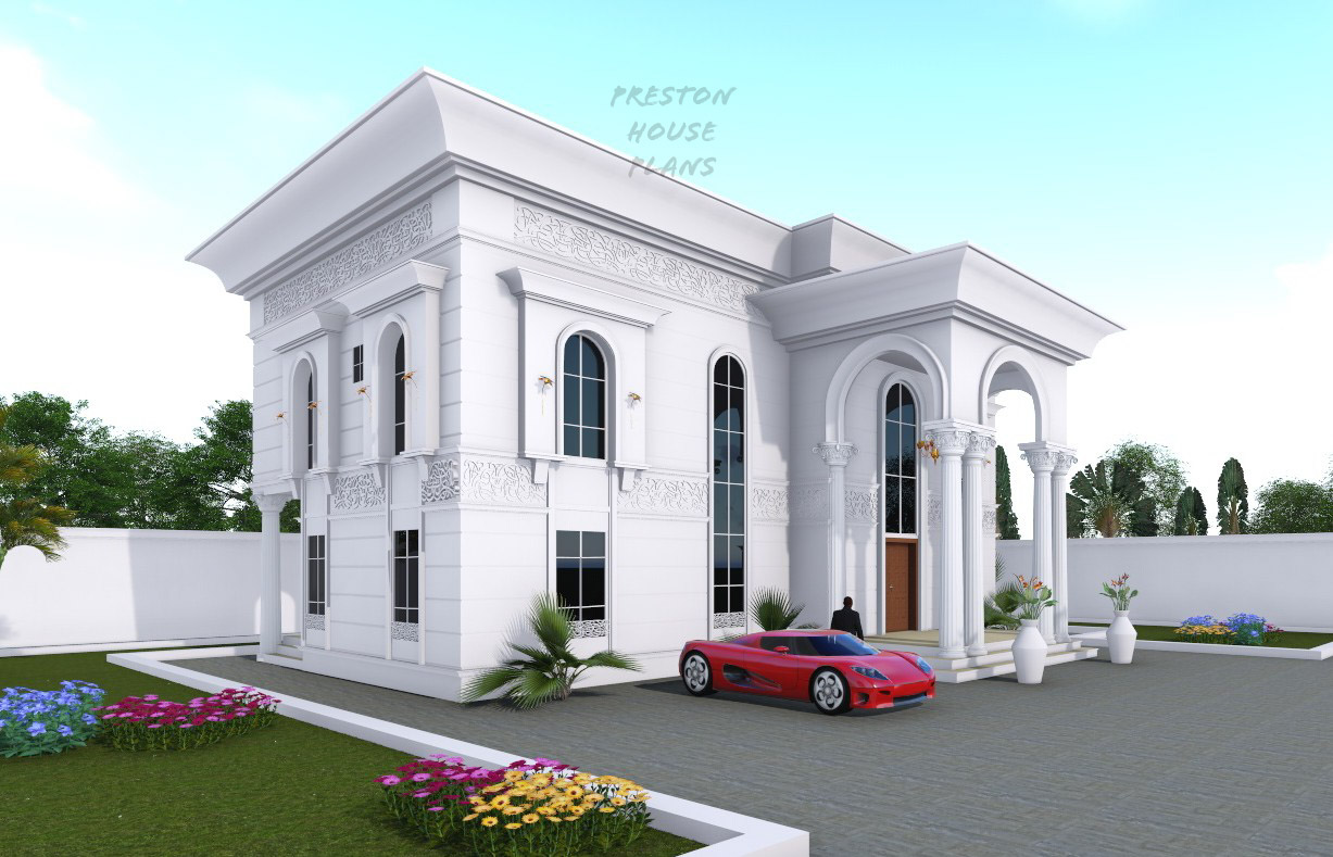 Four bedroom Arabic duplex front side view