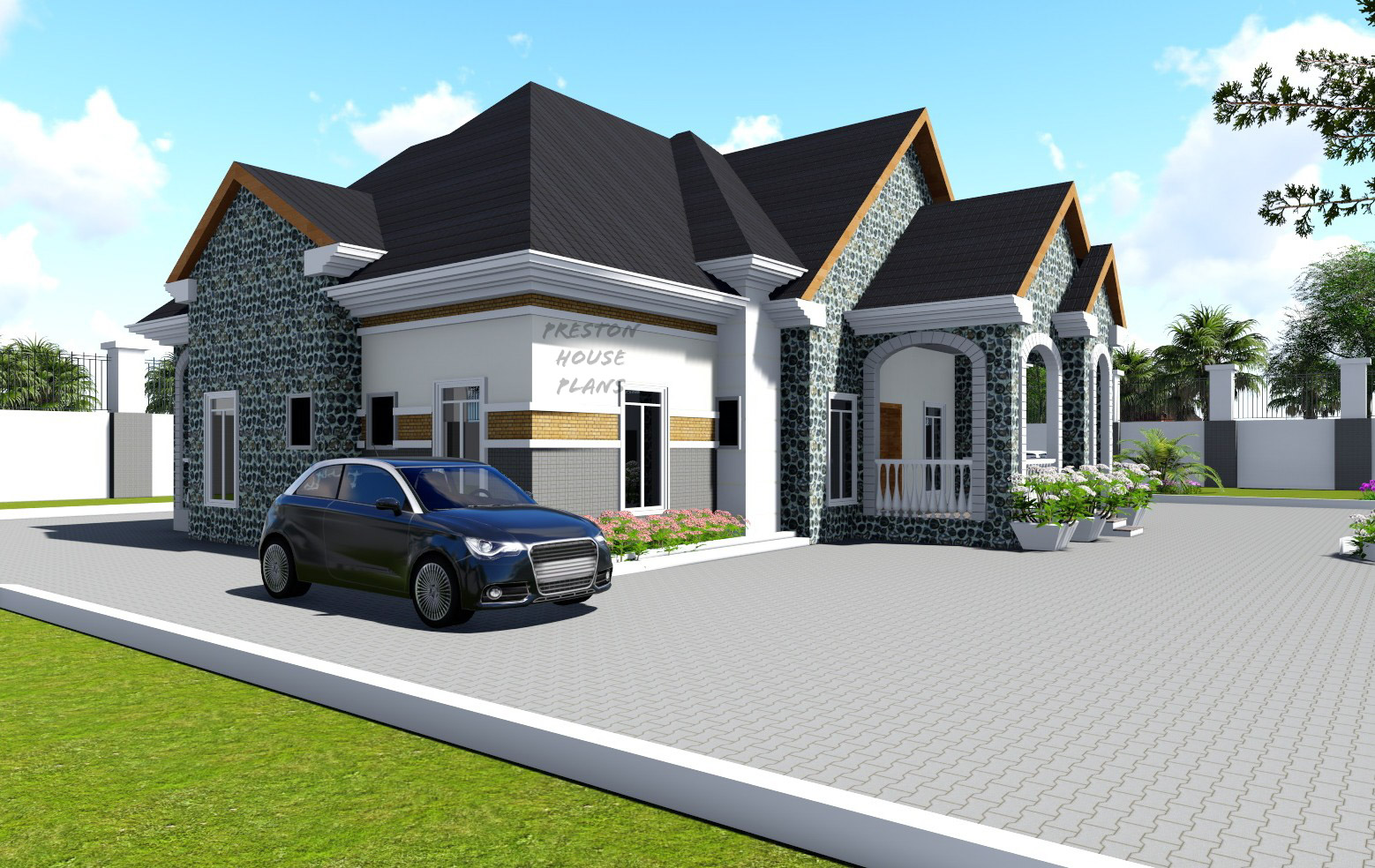 Four bedroom bungalow side view