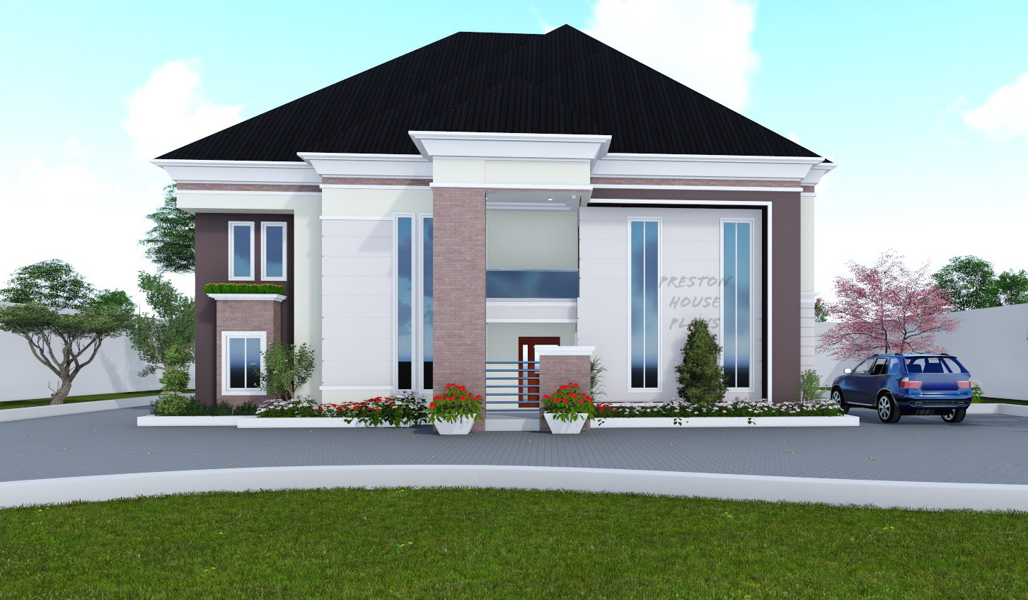Five bedroom duplex front view