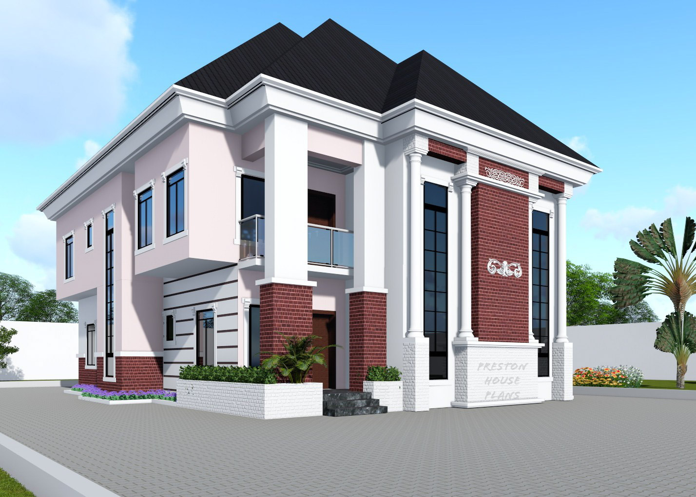 Four bedroom duplex front side view