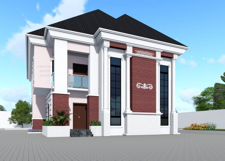 Four bedroom duplex front view