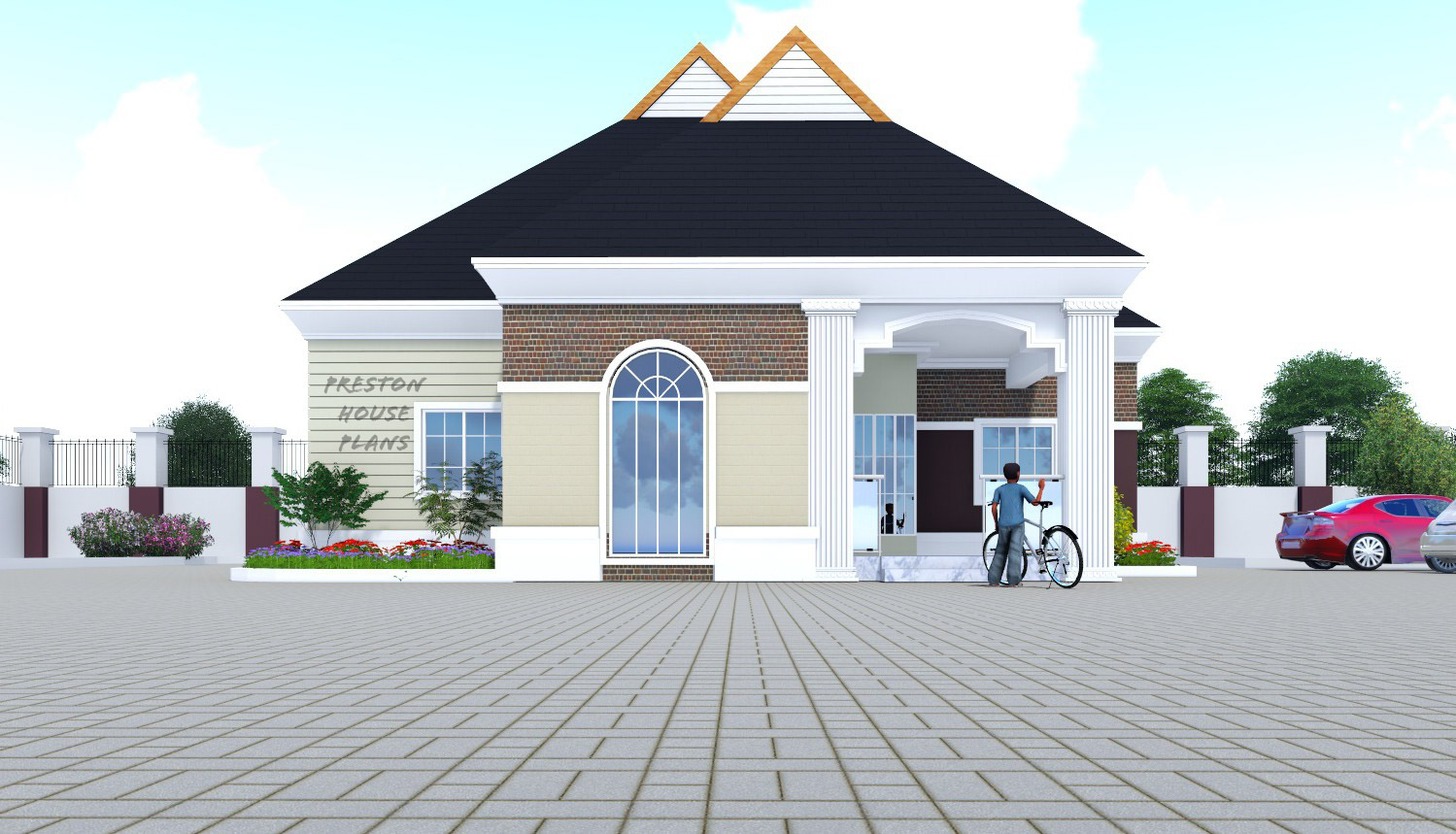 Four bedroom bungalow front view