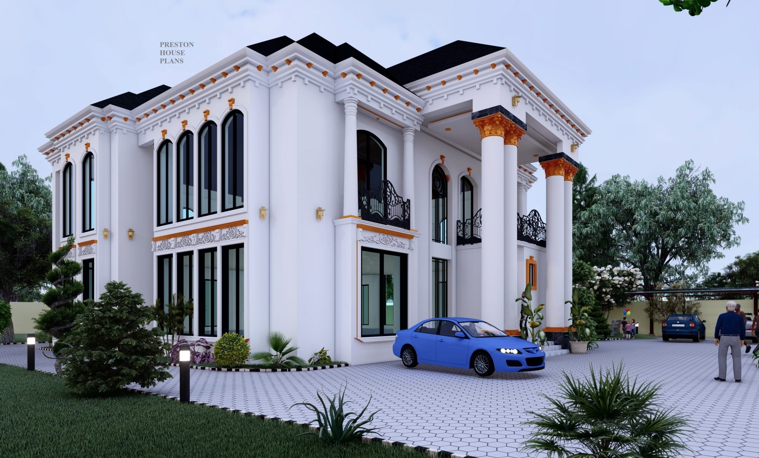5 bedroom white and gold duplex