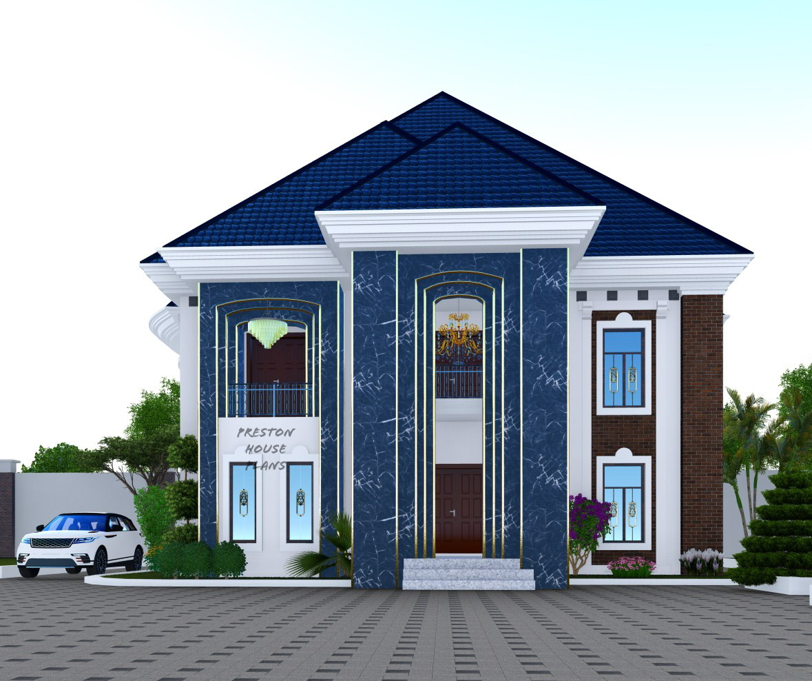 Front View of a five bedroom duplex