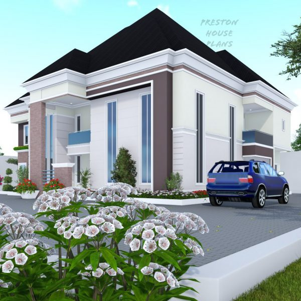 Five bedroom duplex side view