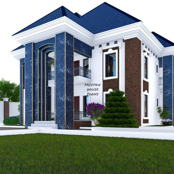 Front side view of a five bedroom duplex
