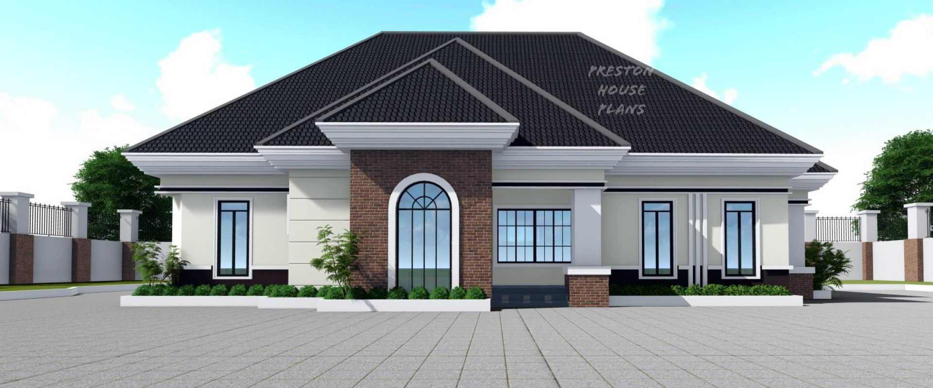 Four Bedroom Bungalow Featuring Tall Windows